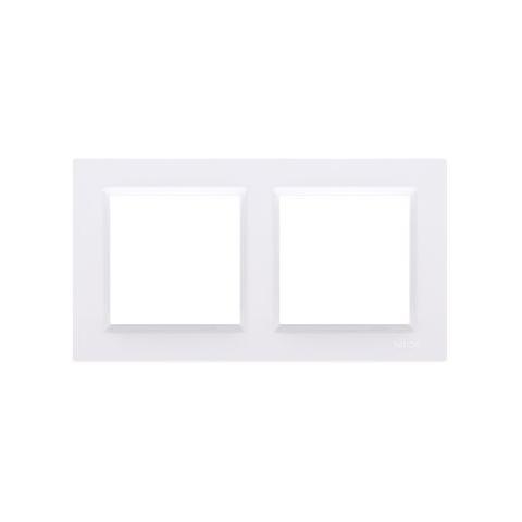 Rámik dvojnásobný Simon 10 biely