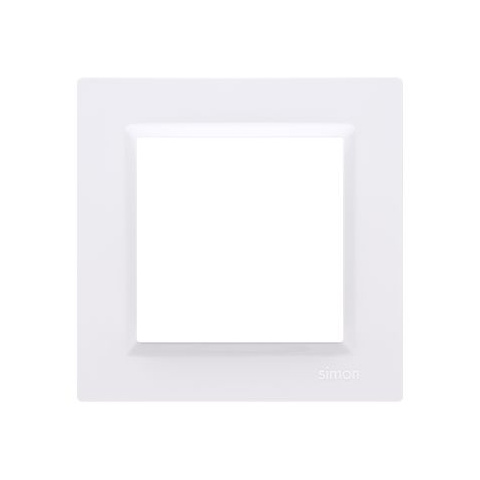 Rámik jednonásobný  Simon 10 biely