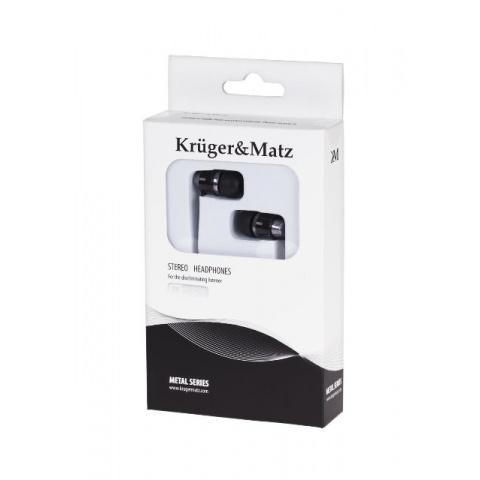 Slúchadlá do uší KM0M01BK Kruger&Matz čierne