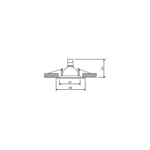 Svietidlo bodové pevné OH14-MC matné