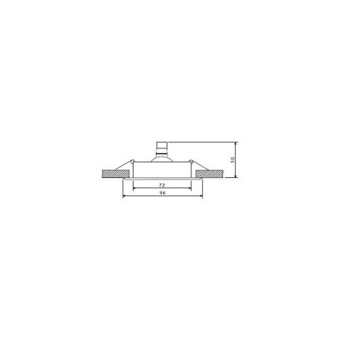 Svietidlo bodové výklopné OH15 biele
