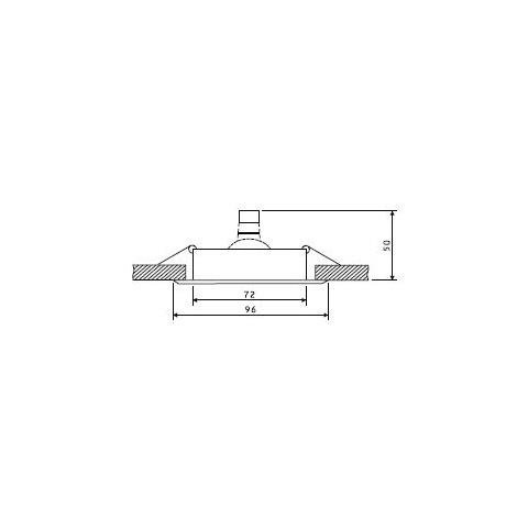 Svietidlo bodové výklopné OH15-C lesklé