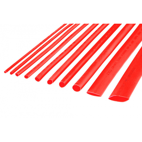 Zmršťovacie bužírky 2,5mm červené 1m (10ks)