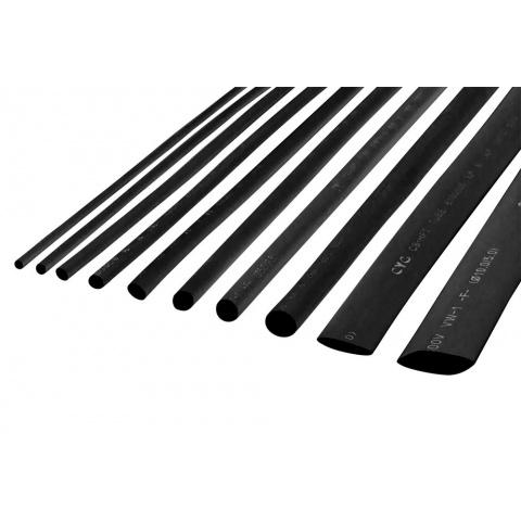 Zmršťovacie bužírky 6,5mm čierne 1m (10ks)