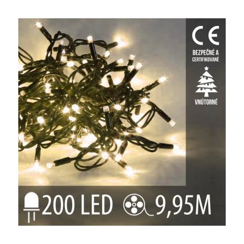 Vianočná LED svetelná reťaz vnútorná - 200LED - 9,95M Teplá biela