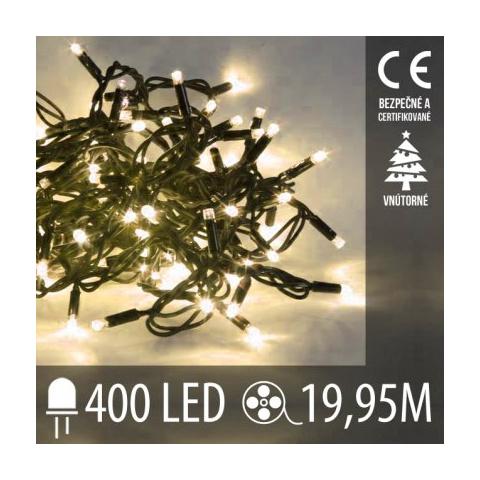 Vianočná LED svetelná reťaz vnútorná - 400LED - 19,95M Teplá Biela