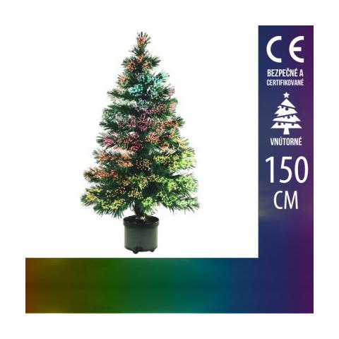 Umelý Vianočný stromček LED s optickým vláknom - 150CM Multicolour
