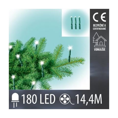 Vianočná LED svetelná reťaz vonkajšia - mini LED žiarovky - 180LED - 14,4M Teplá biela