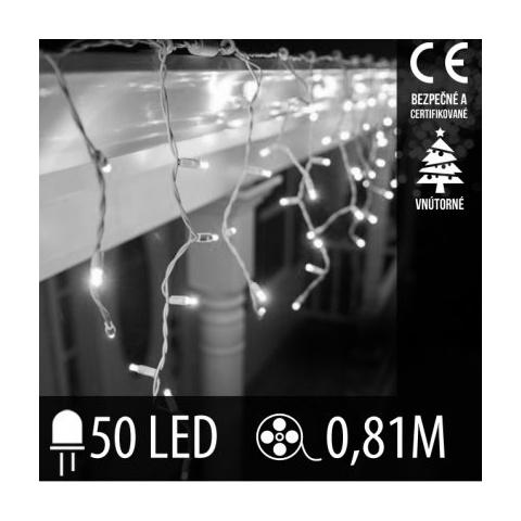 Vianočná LED svetelná záclona vnútorná - 50LED - 0,81M Studená biela