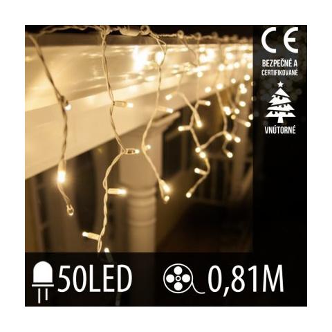 Vianočná LED svetelná záclona vnútorná - 50LED - 0,81M Teplá biela