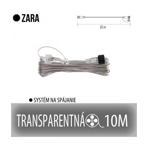 ZARA predlžovací kábel pre spojovateľné reťaze - 10m - transparentný