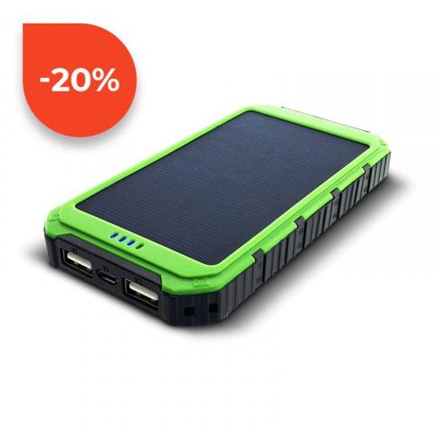 Sunen Solárny powerbank 0.8W 6000mAh S6000G zelená
