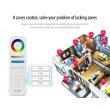 Diaľkový dotykový ovládač Mi-light pre led pásky 5v1 RGB-CW-WW 8 zón