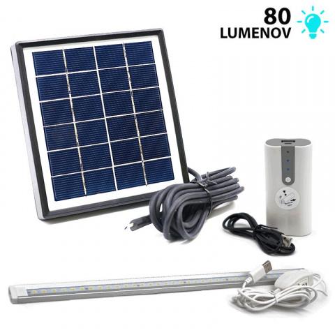 Solárny LED systém a powerbank POWERplus Dove 4000mAh