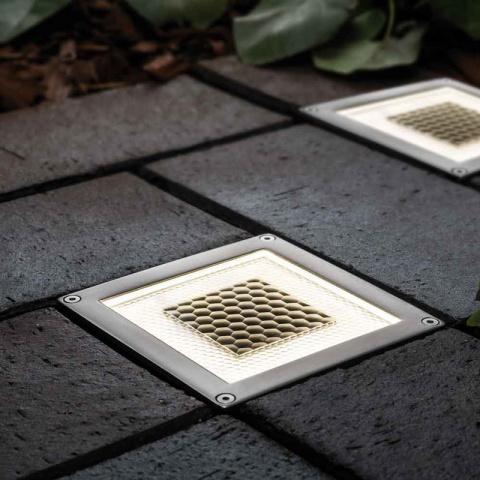 Solárne štvorcové podlahové osvetlenie SolarCentre Onyx Half Brick Light set 2ks