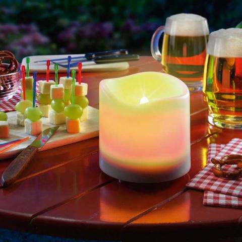 Solárna LED dekoračná sviečka Esotec Candle Light 102079