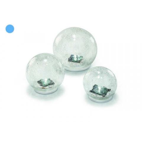 Solárna sklenená guľa Esotec Crackle Balls 102082 - balenie 3 kusov
