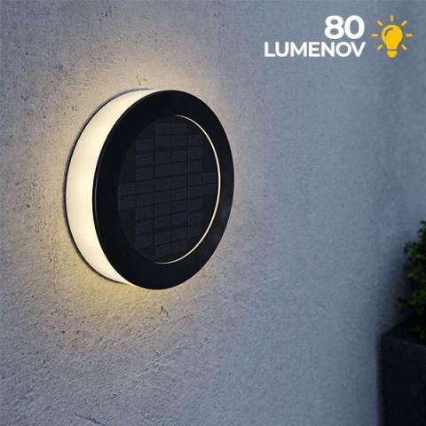 Solárna lampa na stenu SolarCentre Eco Disc 80 lm teplá biela