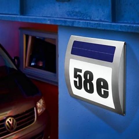Solárne osvetlenie čísla domu Esotec Wave 102036 studená biela