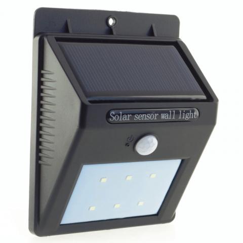LED solárne svietidlo so senzorom pohybu a súmraku 120lm teplá biela