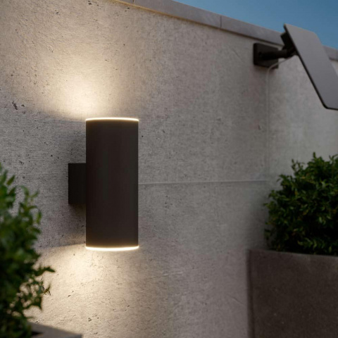 Solárne nástenné osvetlenie SolarCentre Chester Up & Down - Antracit