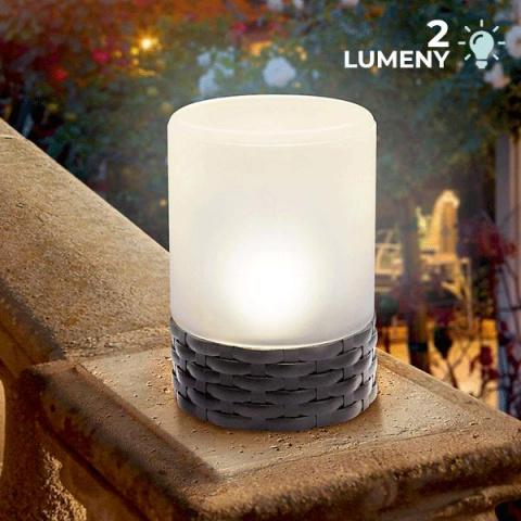 Solárna stolová lampa Esotec Rattan Style 102075