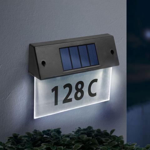 Solárne osvetlenie čísla domu 11446C studená biela