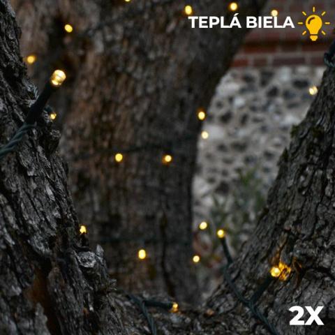 Vianočná SADA 2x Solárna LED reťaz SolarCentre Elan SS9946 200 LED / 20m teplá biela