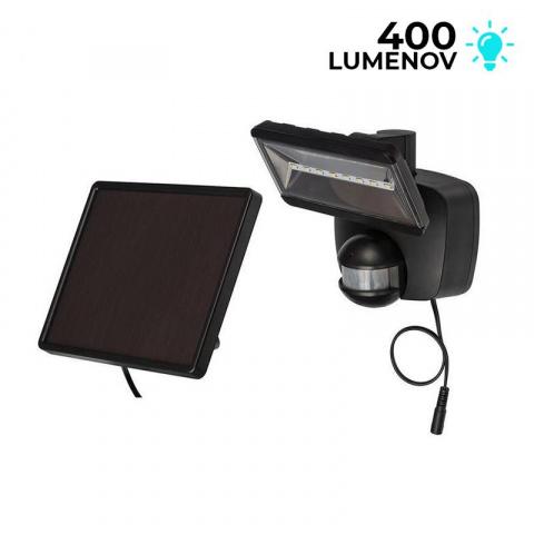 Solárne senzorové osvetlenie Brennenstuhl SOL 800 8 LED čierne