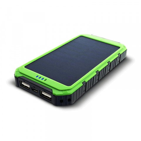 Solárny powerbank 0.8W 6000mAh S6000G zelená