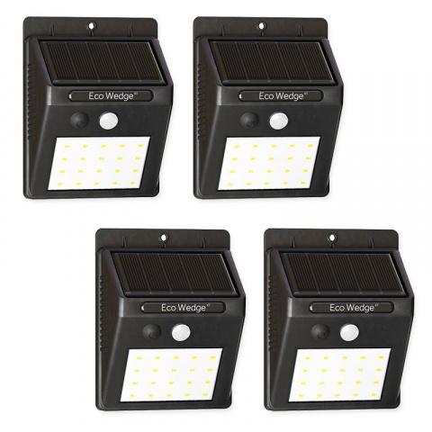 Sada 4x Solárne bezpečnostné LED osvetlenie SolarCentre Eco Wedge XT SS9849 160 Lumenov s pohybovým senzorom