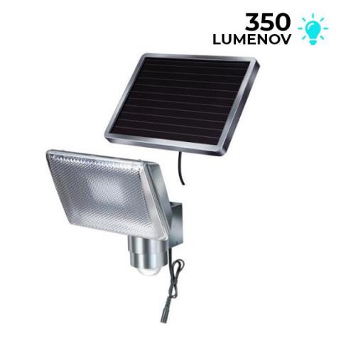 Solárne senzorové osvetlenie Brennenstuhl SOL 80 ALU 8 LED chrómové