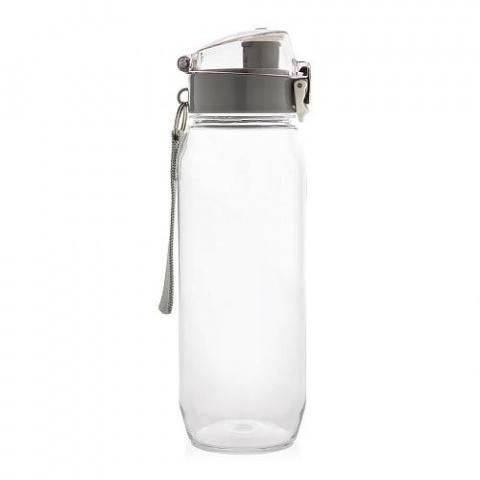 Fľaša na vodu s uzamykateľným viečkom XD Design 600ml čierna