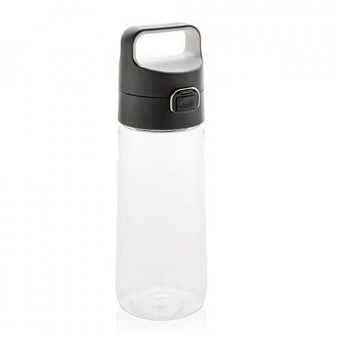Fľaša na vodu s uzamykateľným viečkom XD Design 600ml transparentná