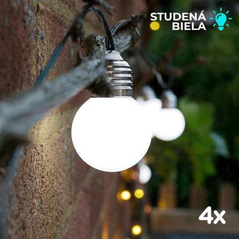 Solárna sada na celú záhradu 4x Elan Festoon SS9961 20 LED