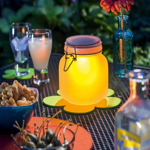 Solárna LED dekoračná lampa Esotec Satin Glas 102078