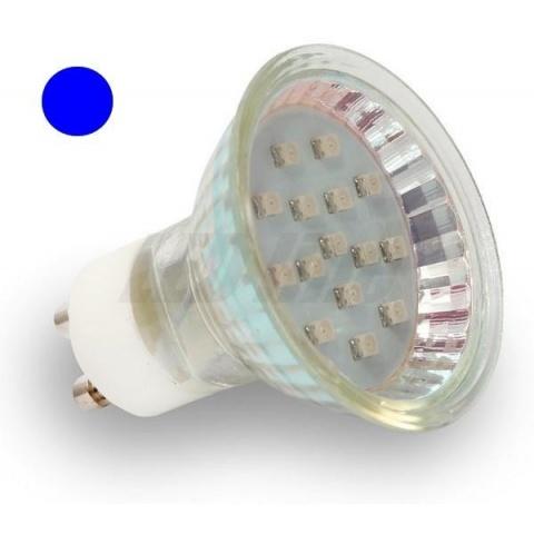 Modrá LED žiarovka 1W GU10