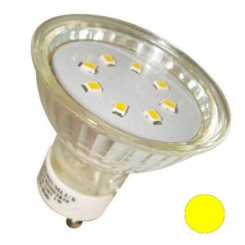 LED žiarovka 15 SMD 3528, 1W Žltá, GU10
