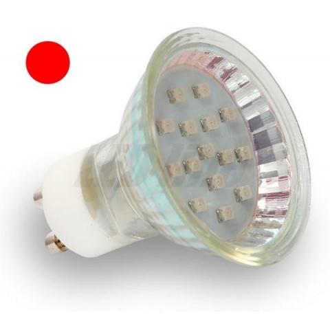 LED žiarovka 15 SMD 3528, 1W  Červená, GU10