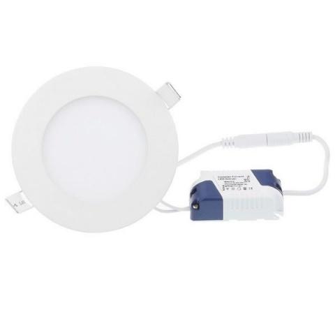 LED panel kruhový vstavaný - 6W - 230V - studená biela