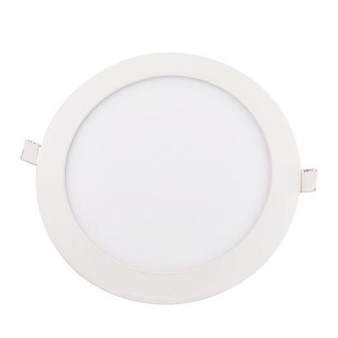 LED panel kruhový vstavaný - 18W - 230V - studená biela