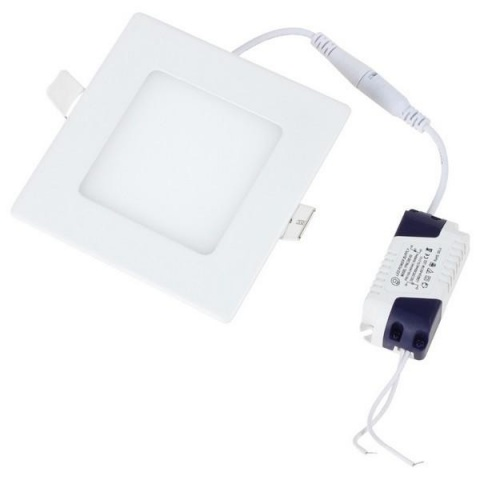 LED panel 120x120x20 mm vestavný - 6W - 230 V - studená biela