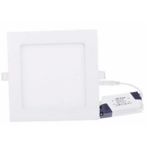 LED panel štvorec 172x172x20 mm vstavný - 12W - 230V - 860lm - teplá biela