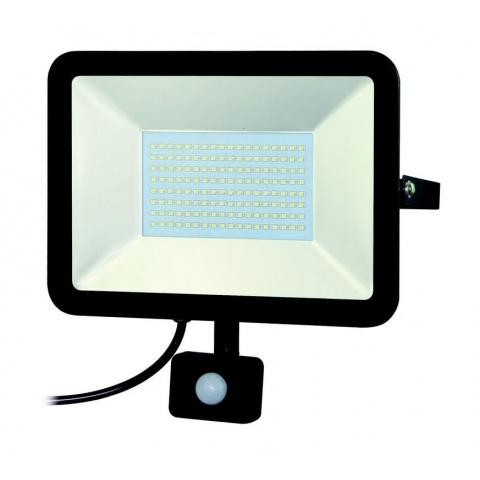 LED reflektor 50W Studená biela + senzor pohybu