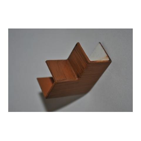 Mutlusan 16X16 L kryt ohybový(imit. dreva - tmavý orech)