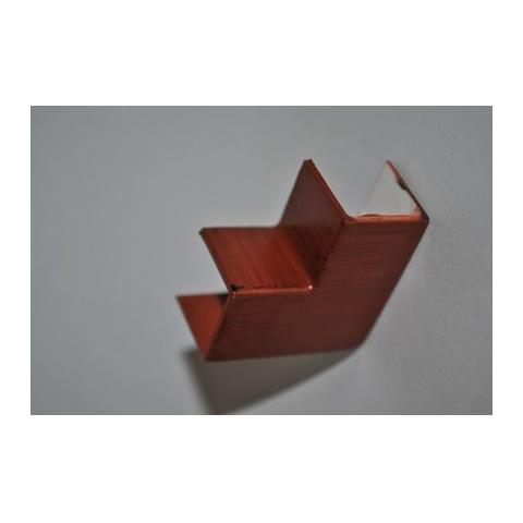 Mutlusan 16X16 L kryt ohybový(imit.dreva - MERBAU)