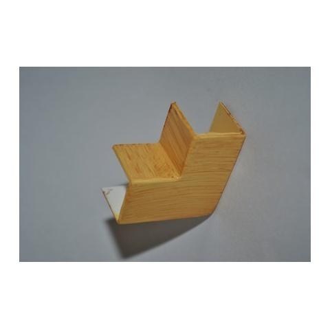 Mutlusan 16X16 L kryt ohybový(imit.dreva - SVETLÝ BUK)