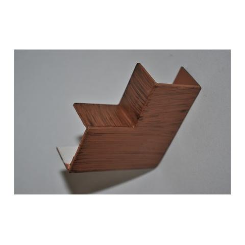 Mutlusan 25X16 L kryt ohybový(imit. dreva - tmavý orech)