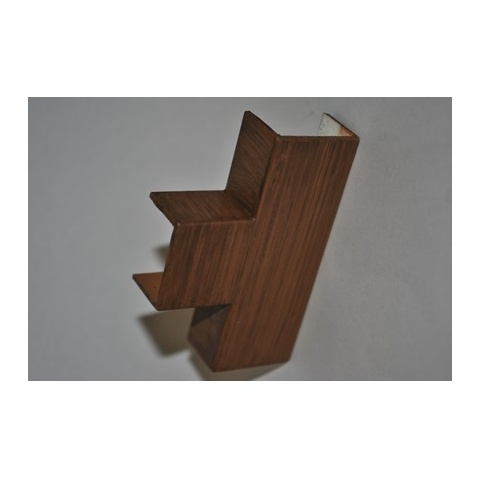 Mutlusan 25X16 T kryt odbočný(imit. dreva - tmavý orech)