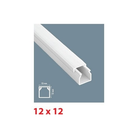 Mutlusan lišta inštalačná PVC 12x12